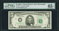Fr. 1977-I $5 1981A Federal Reserve Note. PMG Gem Uncirculated 65 EPQ
