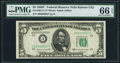 Fr. 1964-J* $5 1950C Federal Reserve Star Note. PMG Gem Uncirculated 66 EPQ