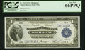 Fr. 721 $1 1918 Federal Reserve Bank Note PCGS Gem New 66PPQ