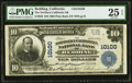 National Bank Notes:California, Redding, CA - $10 1902 Plain Back Fr. 628 The Northern California NB Ch. # 10100 PMG Very Fine 25 EPQ.. ...
