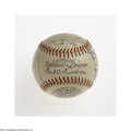Autographs:Baseballs, 1951 Cincinnati Reds Team Signed Baseball....