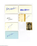 Autographs:Index Cards, Sparky Anderson Signed Index Card Lot of 6....