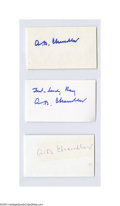 Autographs:Index Cards, A.B. Chandler Signed Index Card Lot of 7....