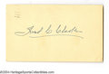 Autographs:Post Cards, 1953 Fred Clarke Signed Government Postcard....