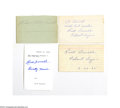 Autographs:Index Cards, Rick Ferrell Signed Index Card Lot of 4....
