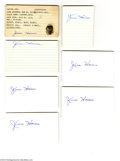 Autographs:Index Cards, Jesse Haines Signed Index Card Lot of 7....