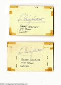 Autographs:Others, Gabby Hartnett Autograph Lot of 3....