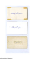 Autographs:Others, Harry Hooper Autograph Lot of 5....