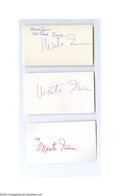 Autographs:Index Cards, Monte Irvin Signed Index Card Lot of 10....