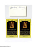 Autographs:Others, Buck Leonard Signed Index Card Lot of 6....
