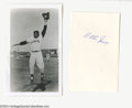 Autographs:Others, Willie Mays Autograph Lot of 2....