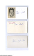 Autographs:Index Cards, Robin Roberts Signed Index Card Lot of 9....