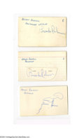 Autographs:Index Cards, Brooks Robinson Signed Index Card Lot of 8....