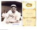 Autographs:Others, Bill Terry Autograph Lot of 12....