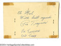 Autographs:Post Cards, 1958 Pie Traynor Signed Government Postcard....
