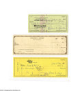 Autographs:Checks, Baseball Hall of Famers Signed Check Lot of 6....