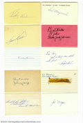 Autographs:Index Cards, Baseball Hall of Famers Signed Index Card Lot of 24....