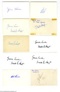 Autographs:Index Cards, Baseball Hall of Fame Pitchers Signed Index Card Lot of 23....