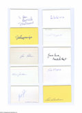 Autographs:Index Cards, Baseball Hall of Famers Signed Index Card Lot of 19....