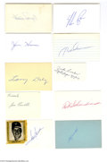 Autographs:Others, Baseball Hall of Famers Signed Index Card Lot of 16....