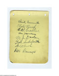 Autographs:Others, Early Hall of Famers Signed Album Page....
