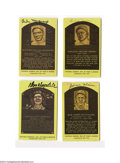 Autographs:Post Cards, Yellow Hall of Fame Signed Plaque Lot of 8....