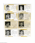 Autographs:Post Cards, 1953-54 St. Louis Cardinals Signed Postcard Lot of 19....