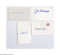 Autographs:Index Cards, Hall of Fame Yankees Signed Index Card Lot of 14....