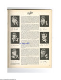 Autographs:Others, 1963 World Series Program Signed by Howard, Pepitone & More....