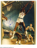 Basketball Collectibles:Photos, Wilt Chamberlain Signed Photograph Lot of 2....