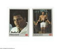 Boxing Collectibles:Autographs, Muhammad Ali Signed Trading Cards Lot of 2....
