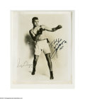 Boxing Collectibles:Autographs, Jack Dempsey Signed Photograph....