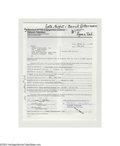 Boxing Collectibles:Autographs, 1980's-2002 Boxing Superstars Signed Contract Lot of 3....