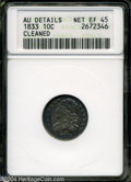 Bust Dimes: , 1833 10C XF45--Cleaned--ANACS, AU Details....