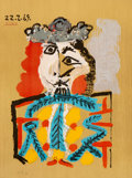 Prints & Multiples:Print, After Pablo Picasso. Untitled, from Imaginary Portraits (from the American Edition), 1972. Offset lithograph in colo...