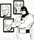 Original Comic Art:Covers, Steve Rude Future Quest Presents #4 Cover Space Ghost and the Galaxy Trio Original Art (DC, 2018)....