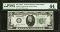 Fr. 2051-A $20 1928A Federal Reserve Note. PMG Choice Uncirculated 64