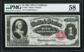 Large Size:Silver Certificates, Fr. 223 $1 1891 Silver Certificate PMG Choice About Unc 58.. ...
