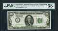 Fr. 2151-C $100 1928A Dark Green Seal Federal Reserve Note. PMG Choice About Unc 58