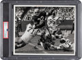 Football Collectibles:Photos, 1960's Jim Brown Original Photograph by Malcolm Emmons, PSA/DNA Type 1....