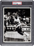 Basketball Collectibles:Photos, 1984 Michael Jordan Original Photograph from First NBA Game, PSA/DNA Type 1. ...