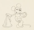 Animation Art:Production Drawing, Around the World in 80 Minutes Mickey Mouse Animation Drawing (Walt Disney, 1931). . ...