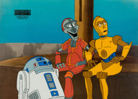 Star Wars: Droids Production Cel and Key Master Background (Nelvana, c. 1980s)