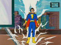 The Kid Super Power Hour with Shazam! Production Cel and Key Master Background (Filmation, 1981)