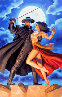 Greg Hildebrandt Zorro #1 Poster Painting Original Art (Dynamite Entertainment, 2008)