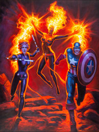 Greg Hildebrandt Marvel Comics #1000 Avengers Variant Cover Original Art (Marvel, 2019)