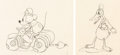 Animation Art:Production Drawing, The Dognapper Mickey Mouse and Donald Duck Animation Drawings Group of 2 (Walt Disney, 1934). ... (Total: 2 Original Art)