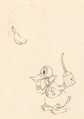Animation Art:Production Drawing, Mickey's Service Station Donald Duck Animation Drawing (Walt Disney, 1935). ...