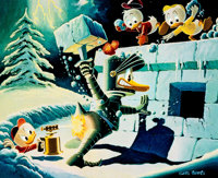 Carl Barks A Hot Defense Miniature Lithograph Limited Edition Print #548/595 (Another Rainbo