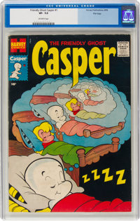 Friendly Ghost Casper #1 File Copy (Harvey, 1958) CGC VF- 7.5 Off-white pages